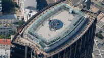 An aerial view shows the panoramic terrace on the top of the Montparnasse Tower in Paris July 14, 2013. REUTERS/Charles Platiau (FRANCE - Tags: CITYSPACE TRAVEL SOCIETY) - PM1E97G1QHD01