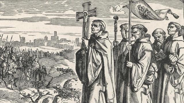 Procession religieuse au Moyen-Age